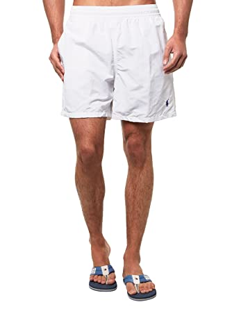 26fa3c9b43a5 Polo Ralph Lauren Homme Hawaiian Boxer Swim Shorts, Blanc, Small ...