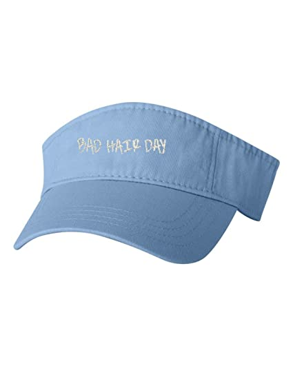 Go All Out Adjustable Baby Blue Adult Bad Hair Day Embroidered Visor Dad Hat 03c4406015d0