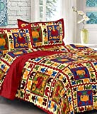 UniqChoice 100% Cotton Luxurious,Comforter and Premium Elegant Rajasthani & Jaipuri Traditional King Size double bed set with 2 Pillow Covers)