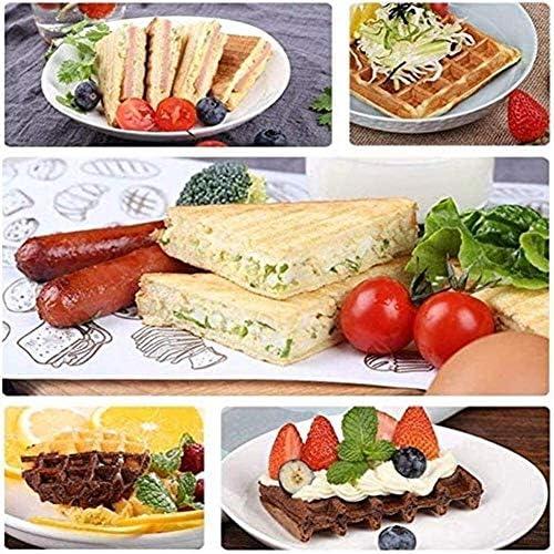 Multifunctionele Kleine Multifunctionele Sandwich, Double verwarming Home ontbijt, wafelijzer, Cake Maker, Non-Stick, Easy-to-Clean Verwisselbare Plate2020 dljyy