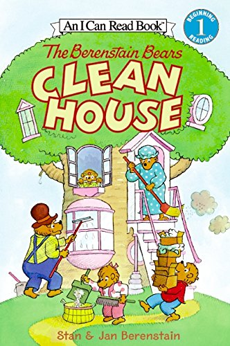The Berenstain Bears Clean House (I Can Read Level 1)