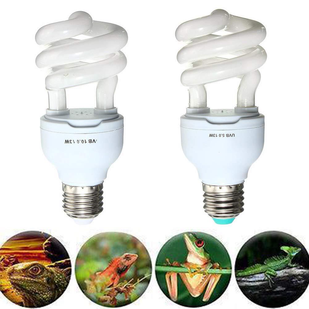 Wie abgebildet 240 V f/ür Amphibien Schildkr/öte Eidechse Sukkulenten Pflanzen 5.0 Soldmore7 UVB Lampe Schildkr/öte f/ür Reptilien 5,0 10,0 UVB 13 W Kompakte Lampe Schildkr/öte Terrarienlampe 110