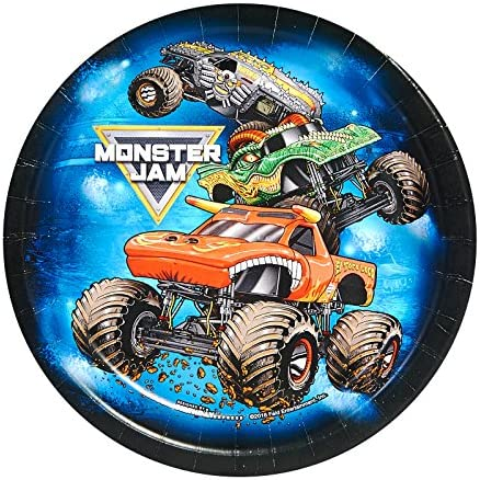 Monster Jam Party Supplies - Dessert Plate (24)