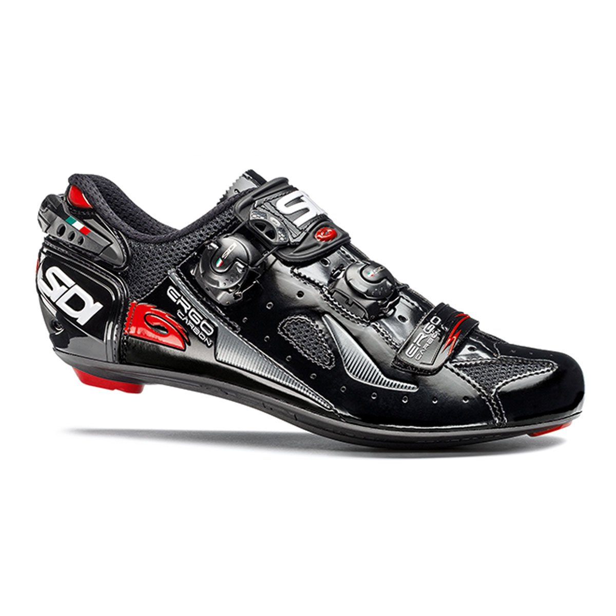 Black 40 Sidi Men's Ergo 4 Cycling shoes Black (44.5)