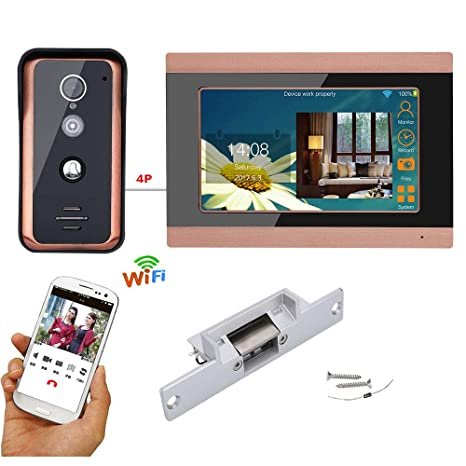 HL 7-Inch WiFi Video intercom Timbre, 2.4 g Sistema de ...