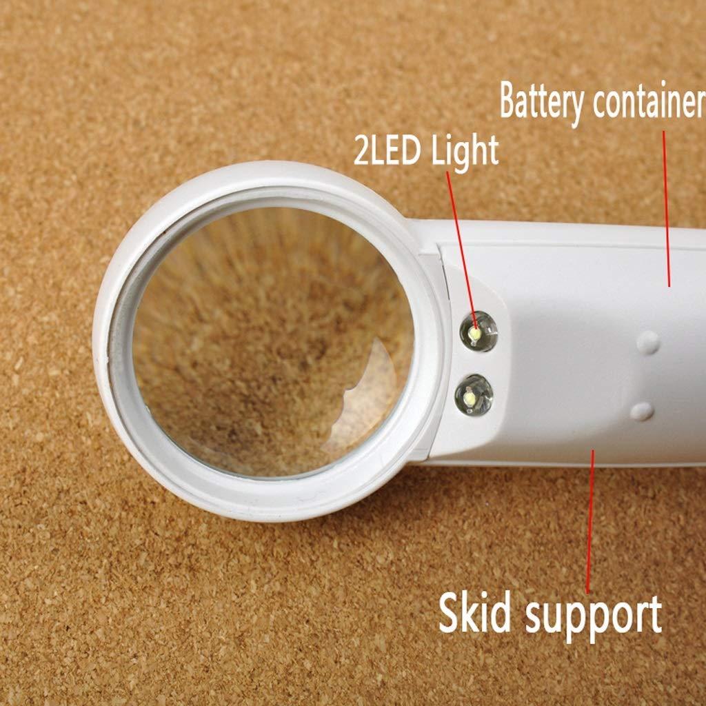 Handheld LED Licht 5 Fache Fache Fache High Definition Lupe, Leuchtende Lesebücher e8ae3d