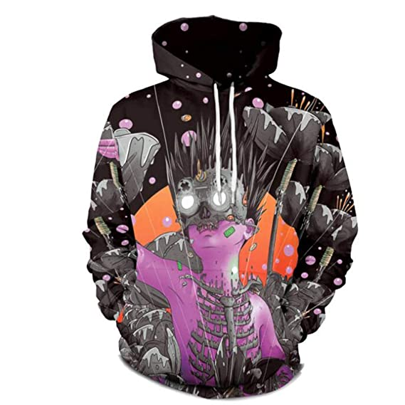 44888f87e17d2 XiuG Creative Print Sweatshirts Long Sleeeve Loose Hot Street Couple Hoodie  Sweater For Men and Women Pullover Hooded  Amazon.in  Clothing   Accessories