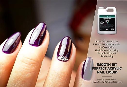 Amazon.com: Juego de uñas de acrílico liso, incluye líquido ...