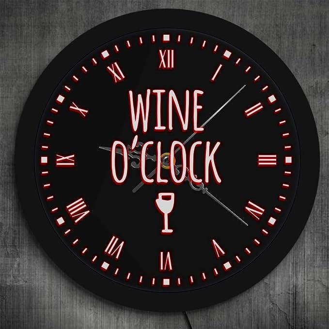 Reloj de pared neón para bar decoración