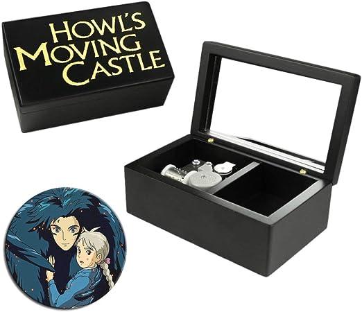 ROSIKING Wooden Music Box Musical Boxes Best Gift for Birthday for Kids Children Christma Howls Moving Castle B