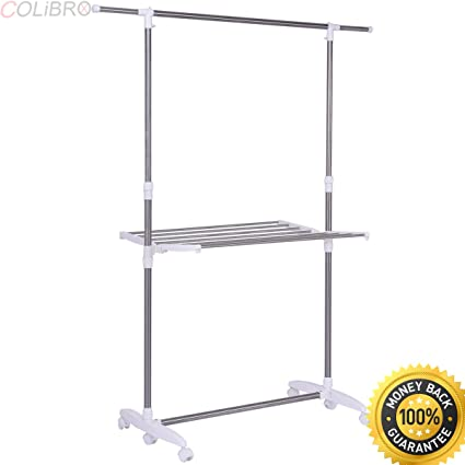 Bed Bath And Beyond Drying Rack Simple Amazon COLIBROXFolding Drying Rack Extendable Rolling Storage