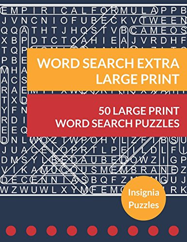Word Search Extra Large Print: One Puzzle Per Page (People Pads Training)
