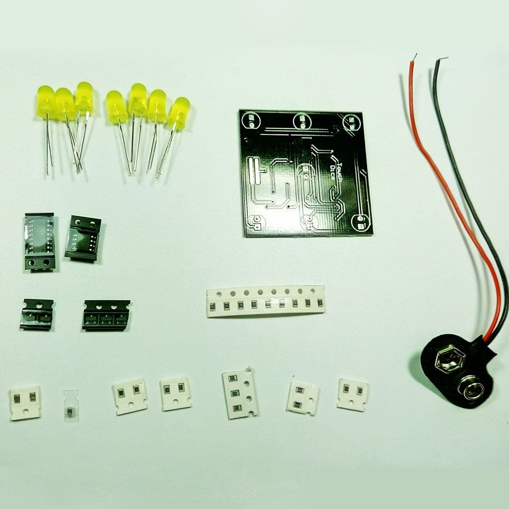 Walmeck Diy Kit For Random Led Touch Dice Electronic Set With 7pcs Circuit Leds