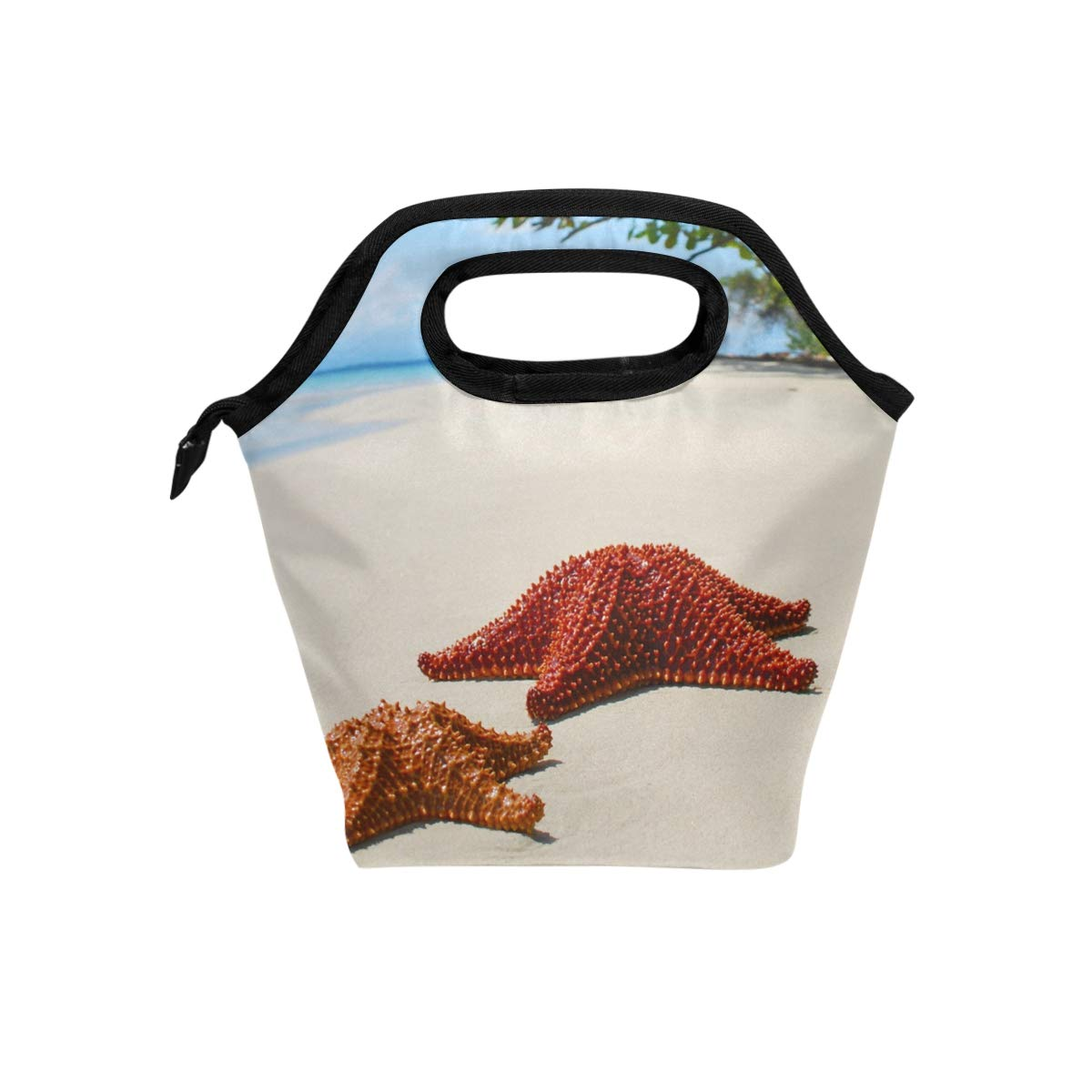 Lunch Box Beach Starfish Special Womens Insulated Lunch Bag Kids Zipper Lunch Tote