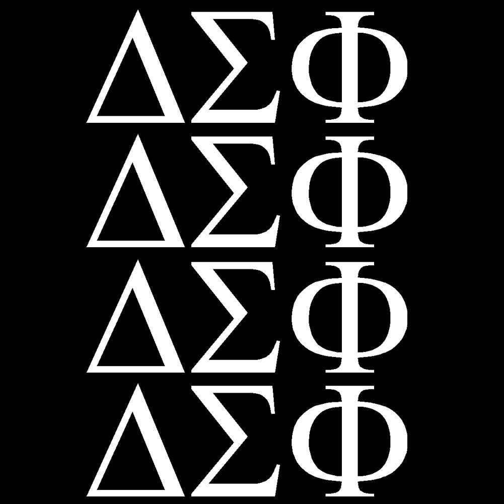 デルタSigma Phi Fraternityビニールデカールby stickerdad ( 4パックMinis – Size : 2