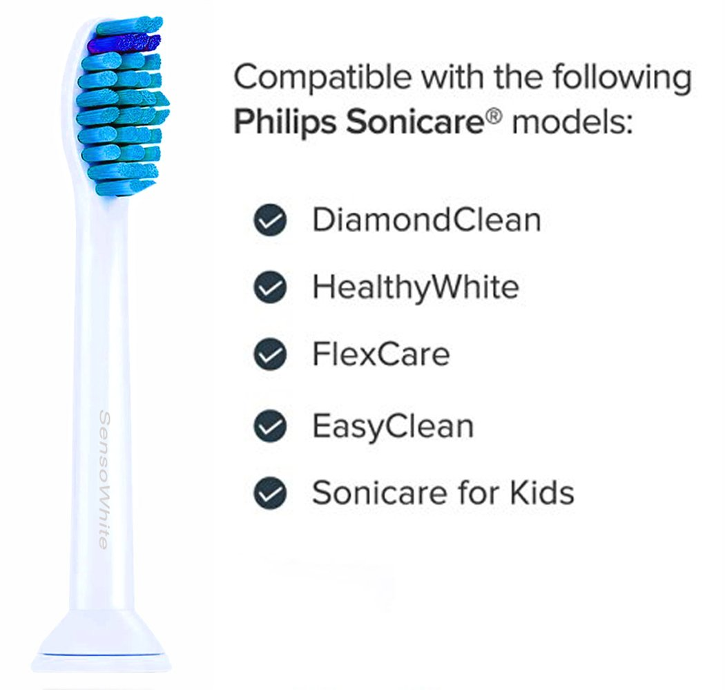 Philips Sonicare ProResults recambios. Totalmente compatibles con los siguientes modelos de cepillos de dientes eléctricos Philips: DiamondClean, FlexCare, ...