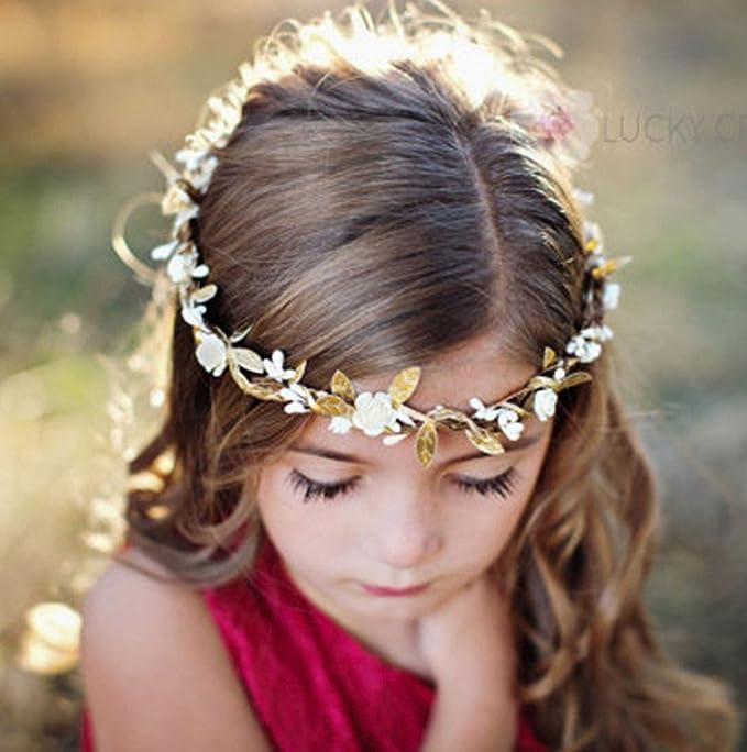 Boho Chic Floral Garland Bride Wedding Flower Crown Headband Hair Accessories