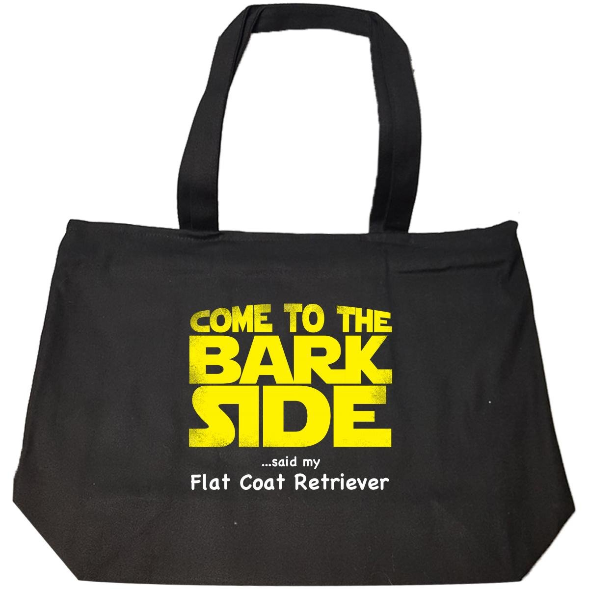 Come To The Bark Side Said My Flat Coat Retriever Sci Fi - Tote Bag With Zip