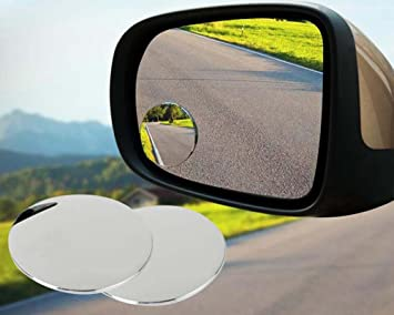 2Pcs universal car 360° wide angle convex rear side view blind spot mirror