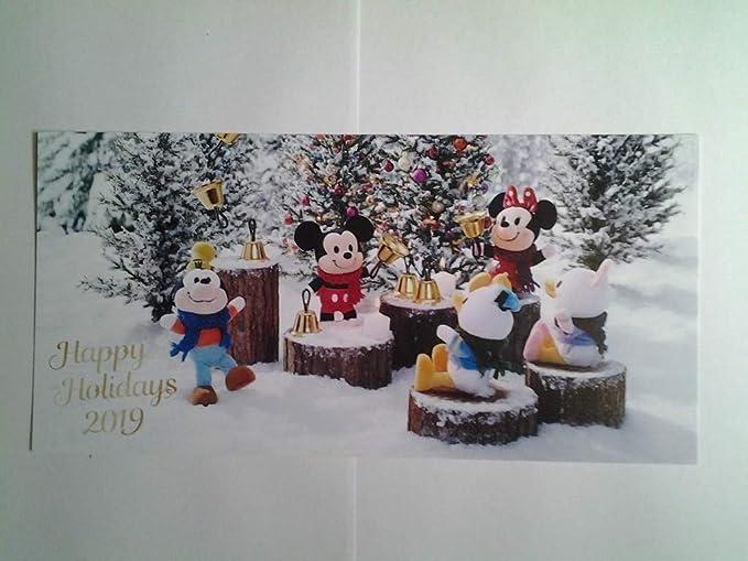 Amazon Co Jp 120 両面保護 ミッキーマウス ポストカード クリスマス 19 イラストカード ディズニー ホビー