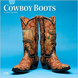 Cowboy Boots 2019 12 X 12 Inch Monthly Square Wall Calendar Usa
