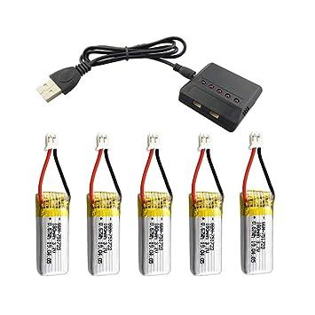 JVSISM Batería de 5 Piezas 3.7V 180 MAh con Cargador 5 en 1 ...