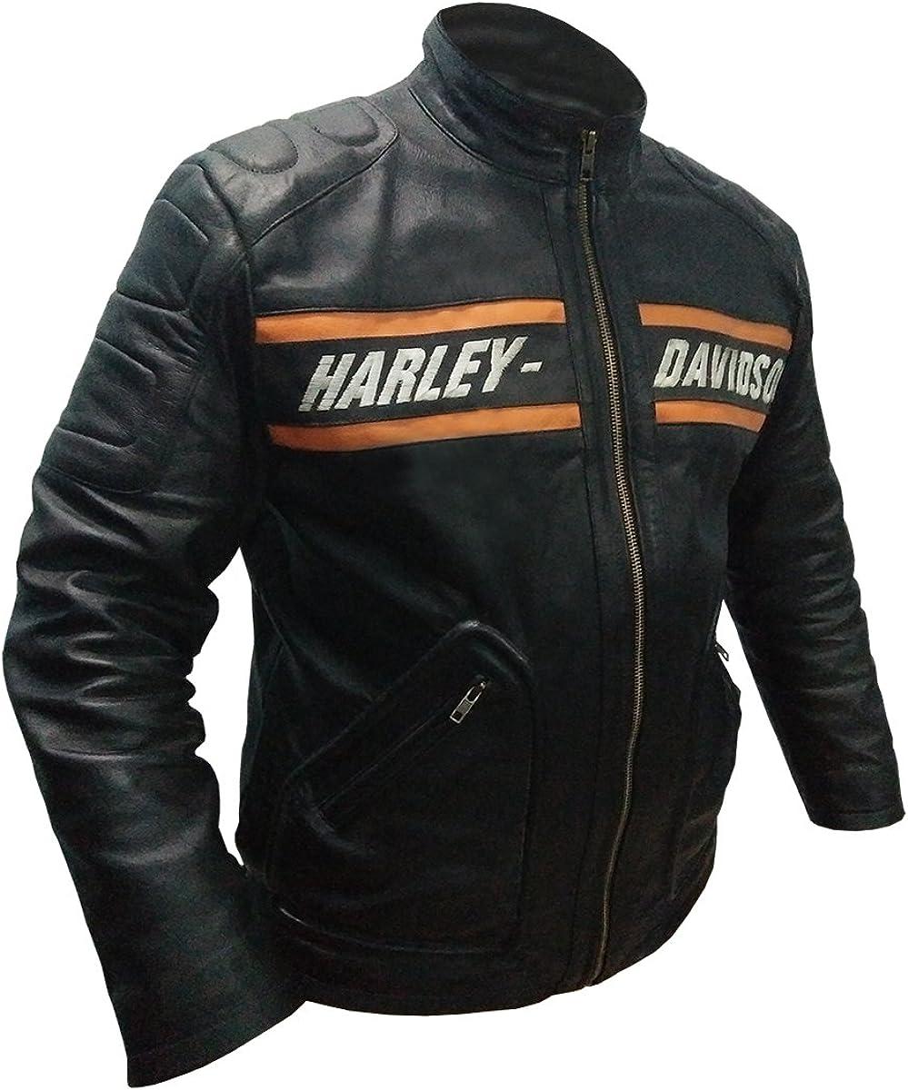 Veste Homme Bill Goldberg Noir Style Motard Moto Veste de Cuir