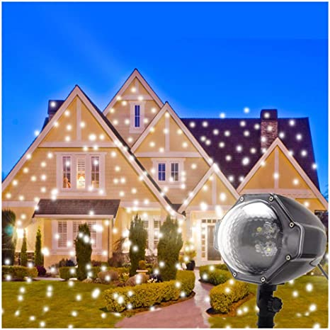 Christmas Projector.Led Snowflake Projector Lights Christmas Projector Outdoor Snowfall Led Lights Indoor Outdoor Christmas Snowflake Decorations Holiday Xmas