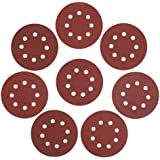 WORKPRO 80-piece Sandpaper Set,5-Inch 8-Hole Hook and Loop Sanding Discs, 60/80/100/120/180/240/320/400 Assorted Grits Sandpa