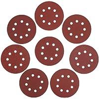 WORKPRO Conjunto de lixa de 80 peças, 12,7 cm, 8 furos de 12,7 cm, lixa de lixa sortidas 60/80/100/120/180/240/320/400…
