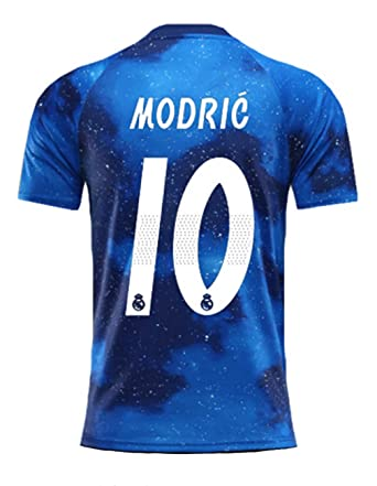 f79b26ce6 ZhouDress Real Madrid 2018-2019 Season  10 Modric Men s Commemorative  Limited Edition Soccer Jersey