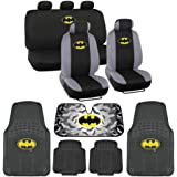Tweety Seat Cover, Rubber Floor Mat and Sun Shade - Warner Brothers 14 Piece Full Interior Protection Auto Accessories