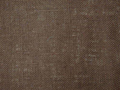 Knitwit Chaqueta marrón arpillera Hacer la Tela de algodón 52 ...
