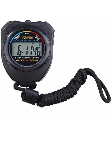 Deportes cronómetro profesional digital portátil LCD Deporte Cronómetro  contador del temporizador 7d29cb9f7c5bb