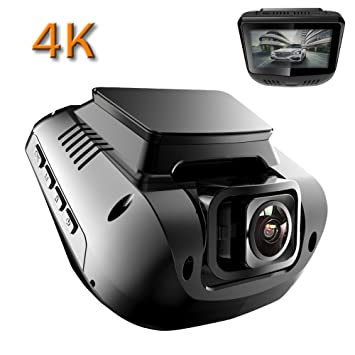 addkey Dashcam Cámara coche 2160p 4 K ultra HD cámara grabadora de, WiFi & GPS