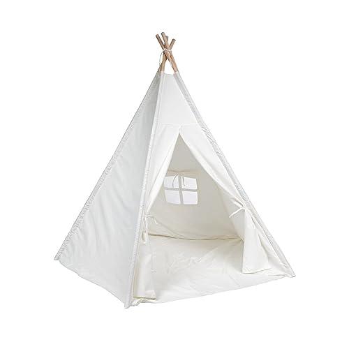 DeceStar Couleur Blanche avec le fond et de fenêtre Enfants Teepee Playhouse Indoor