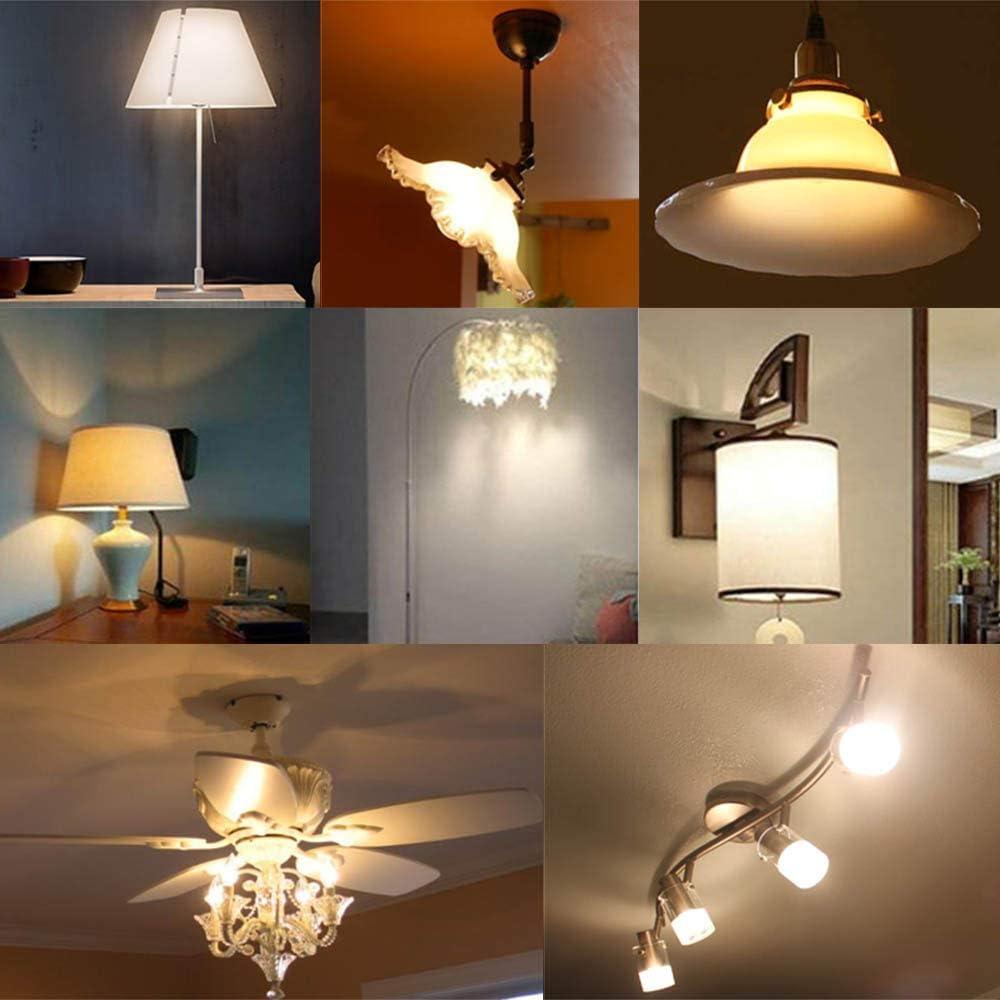 E17 Intrmediate Base LED Light Bulb 5W Soft White 3000K Not Dimmable LED Energy Saving Light Bulbs 40 Watt Equivalent LED Lights for Home 6 Pack 5W-E17-Soft White-3000K