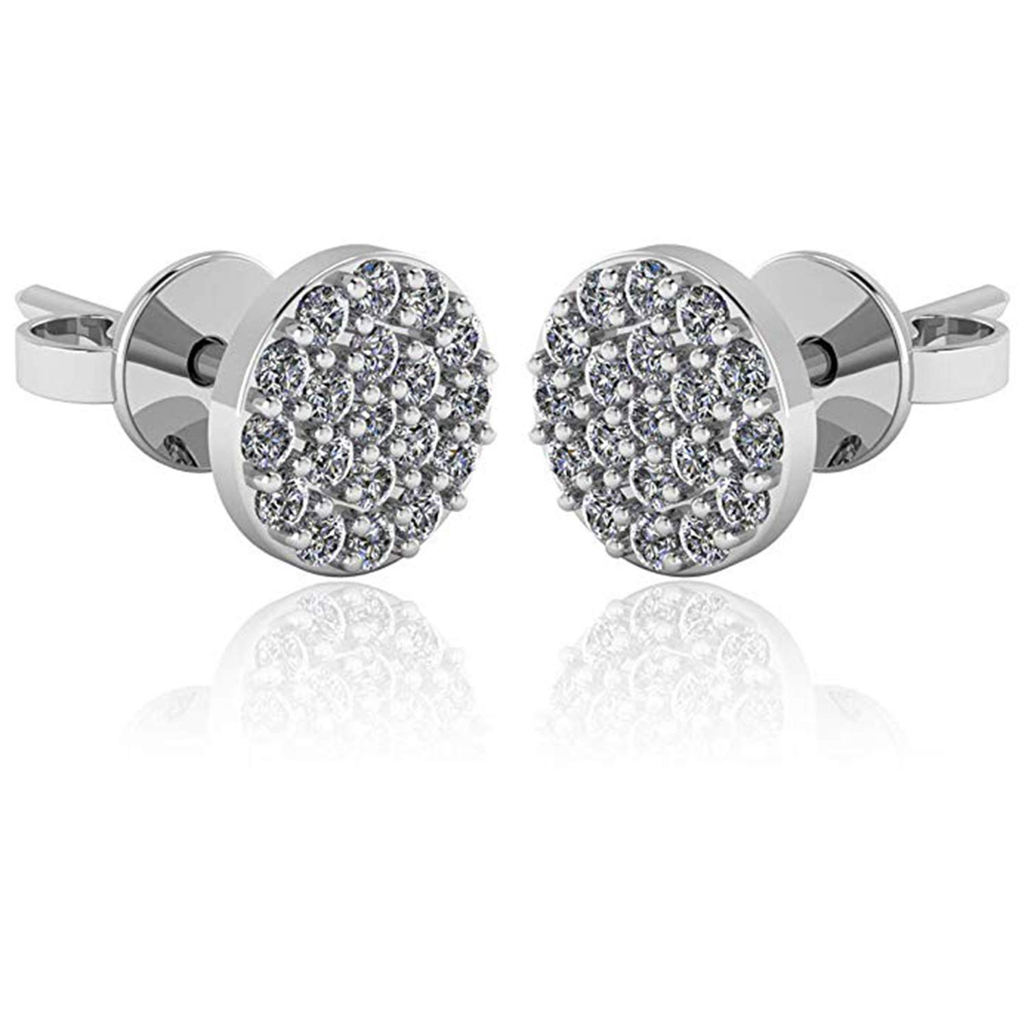 Girls Jewellery 14K White Gold Plated Simulated Diamond Studded Earrings For Womens