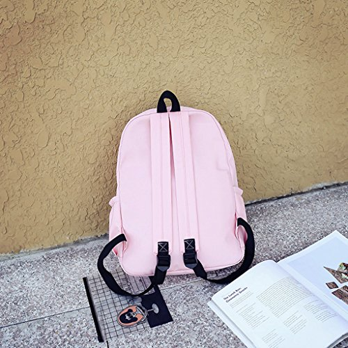 Solid Capacity for Rucksack Shoulder Leather Style GUBENM Composite Girls Color Backpack Backpack Shopping Pink Tarps Bags Large Outdoor Bag Preppy Waterproof Knapsack Travel School txqcOOnpa