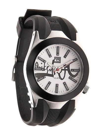 Quiksilver Y020BR/AWHT - Reloj para niños de cuarzo, correa de goma color negro