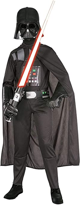 Oferta amazon: Rubies 882009 Star Wars - Disfraz de Darth Vader para niños , L (8-10 años)
