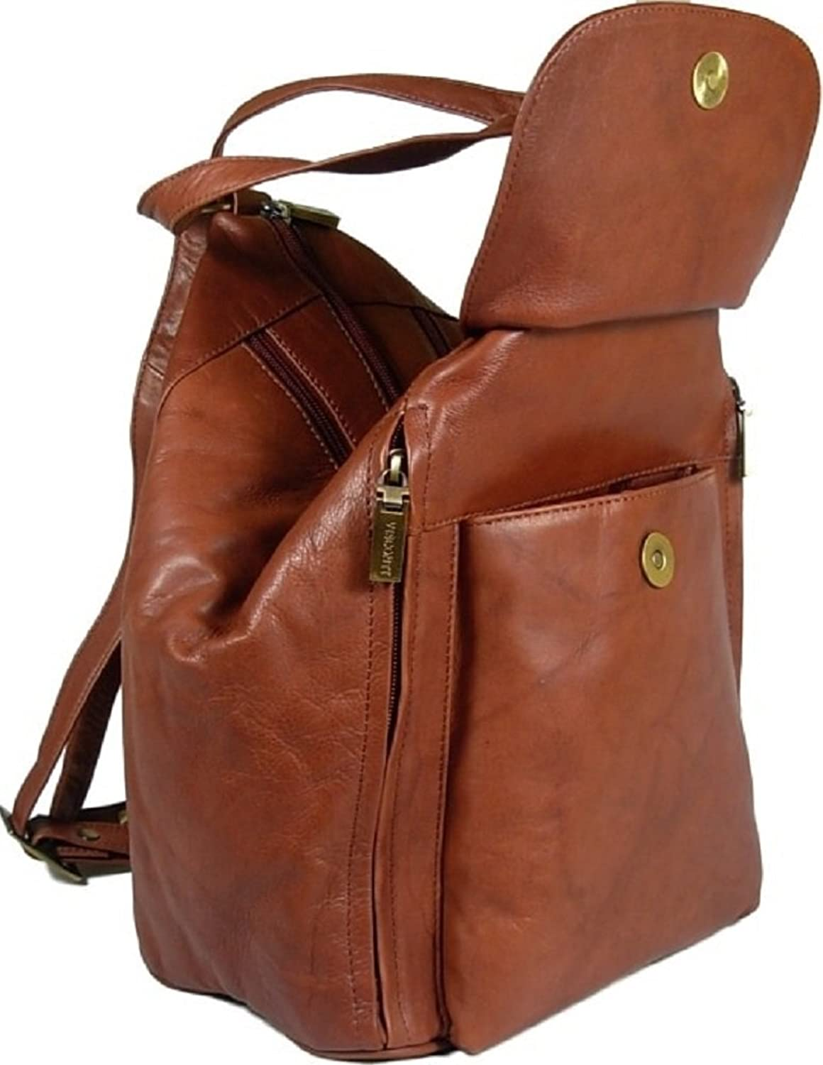 New girls/ladies gorgeous Visconti brown soft leather backpack bag ...