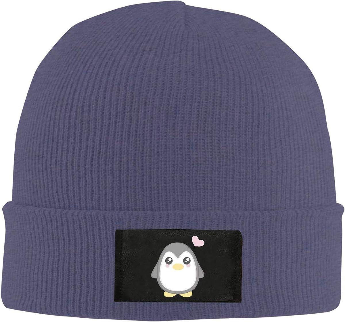 Unisex Stylish Slouch Beanie Hats Black Cute Penguin Top Level Beanie Men Women