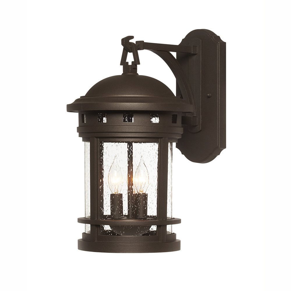Designers Fountain 2381-ORB Sedona Wall Lanterns, Oil Rubbed Bronze