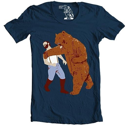 ff9a081fd Amazon.com: 2XL Shirts Lumberjack Grizzly Bear Art Etsy Animal T Shirt Chuck  Norris Shirt: Clothing