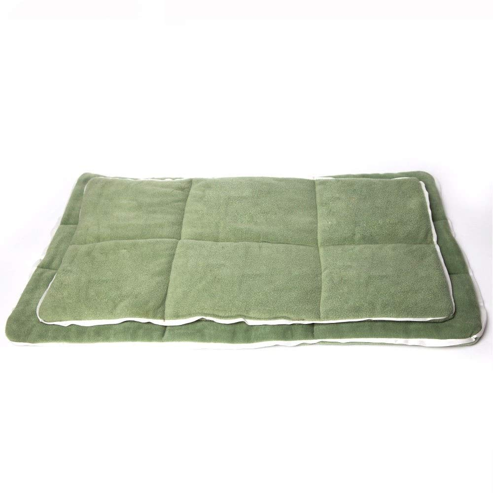 L Yiye Zhiqiu Cotton Pet Dog Mat Bed Products for Large Small Dog Sofa Bed Cover All Seasons Big Size Washable Green Cat Mat (Size   L)