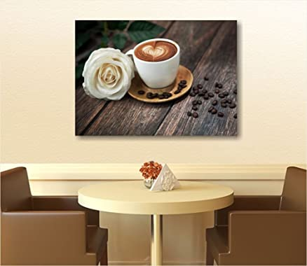 Quadri L&C ITALIA - Caffè 3 - Quadro moderno per cucina 70x50 cm ...