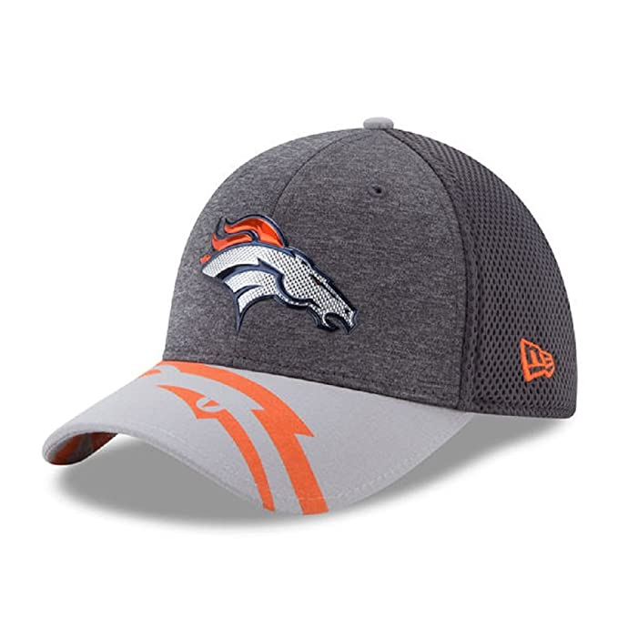 size 40 9319a c0f0f New Era NFL Denver Broncos 2017 Draft Spotlight 39THIRTY Stretch Fit Cap,  Medium Large
