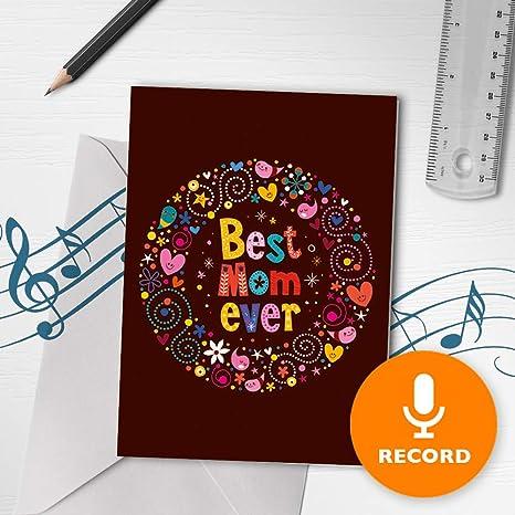 Amazon.com: Tarjeta para el día de la madre con música ...