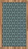Arabian Area Rug by Lunarable, Arabesque Persian Geometric Complex Lines and Floral Patterns in Retro Style Culture Art, Flat Woven Accent Rug for Living Room Bedroom Dining Room, 2.6 x 5 FT, Blue